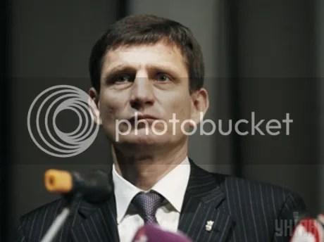 Oleksandr Sych, deputy Prime Minister of Ukraine for the neofascist Svoboda party