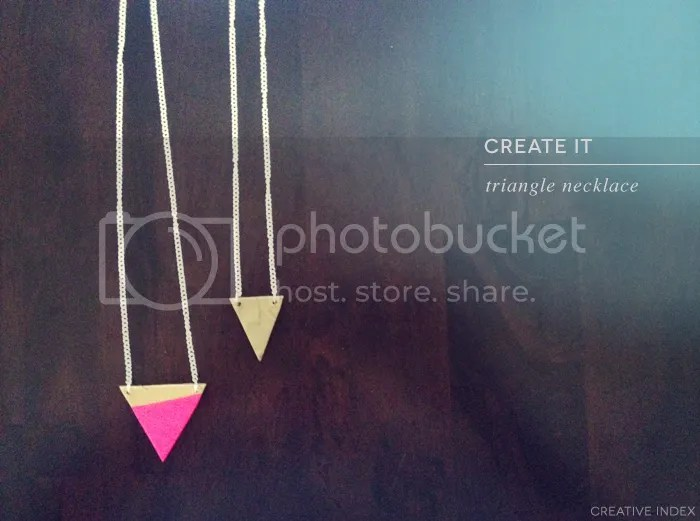 DIY clay triangle necklace by creative index