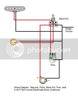 Piezo and magic pickup bined, wiring and pots