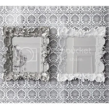 brocade home, ruffle edge mirror