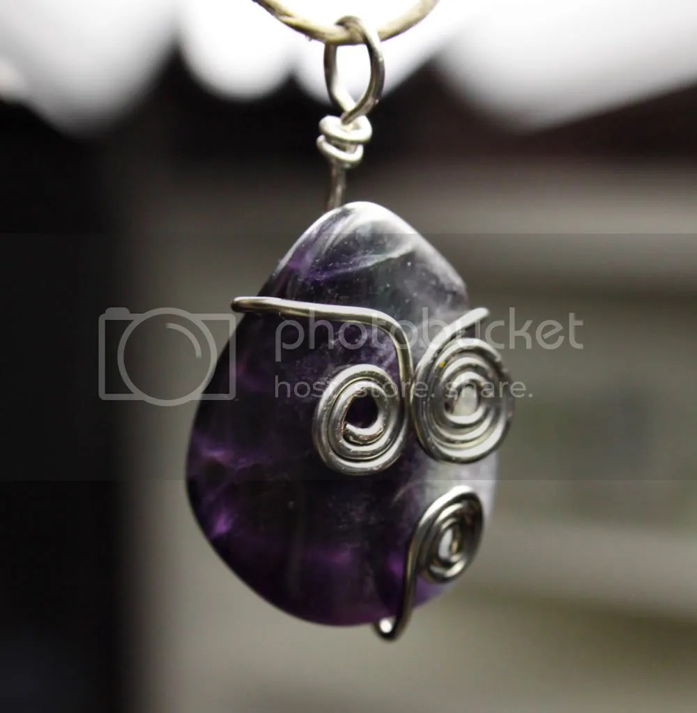 fluorite and silver wrapped pendant
