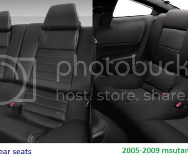 Now If You Were To Install 2011 Mustang Rear Seat Covers On A 2005 2009 Mustang This Is What You Will Be Looking At