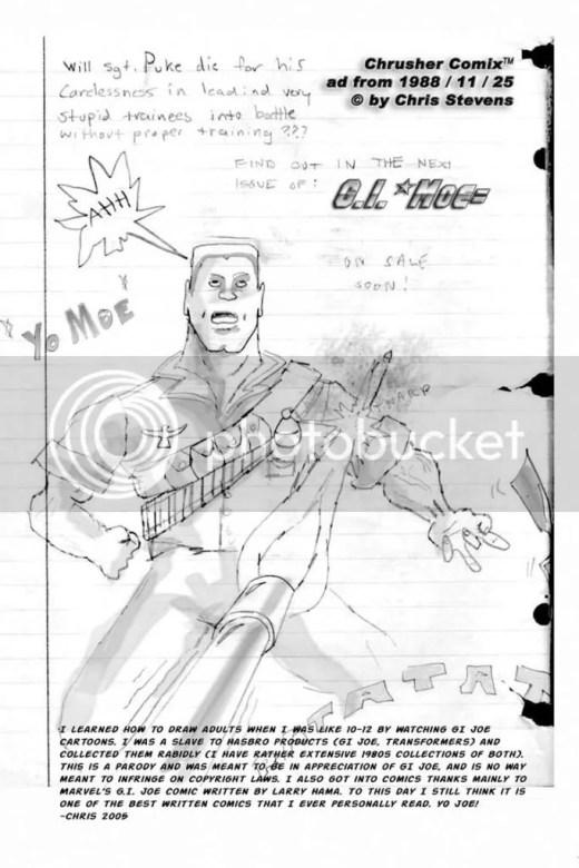 GI Moe - ChrusherComix 1988 photo 1988-11-27-GI-Moe-Faux-Ad.jpg