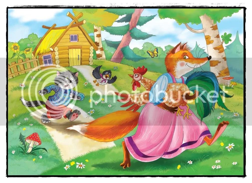 gatto-gallo-volpe-кот-петух-лиса