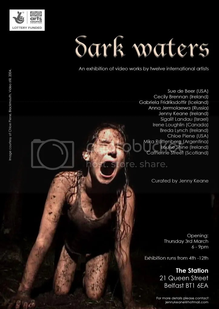 'Dark Waters' Exhibition Poster