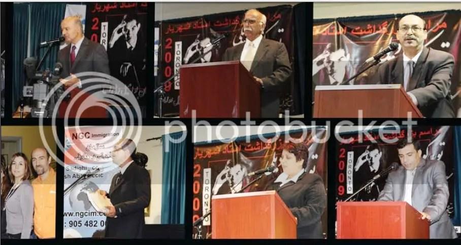 از راست یکی از نوازندگان گروه تبریز و یوسف ساوالان خواننده گروه