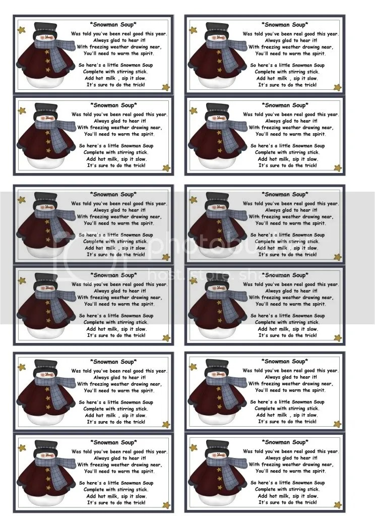 picture about Snowman Soup Printable identify Snowman Soup Template. labels printable clean calendar web-site