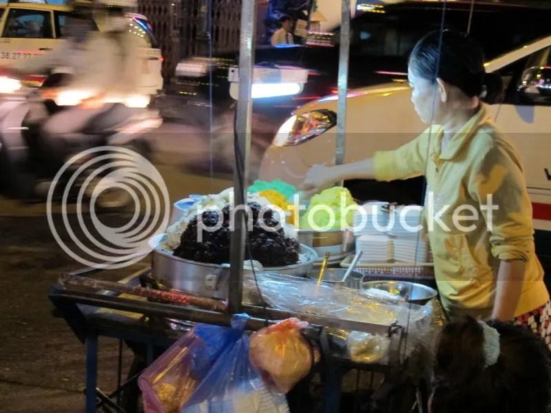 Rice stall Saigon Vietnam