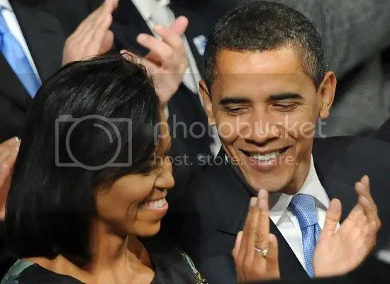 The President & First Lady at the prayer service...