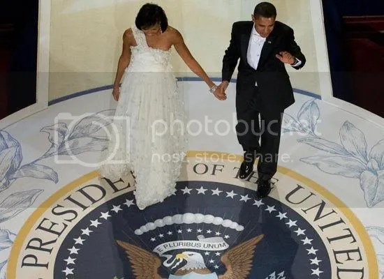 The President & First Lady arrive at the Commander-in-Chief Ball...