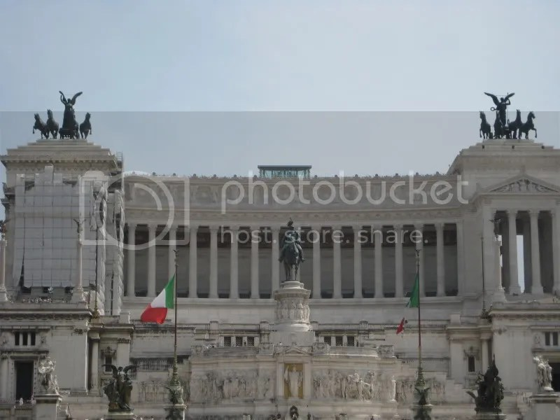 On our way, we saw the Victor Emmanuel Monument (we didnt know what this was, and referred to it our entire stay there as the big white thing)