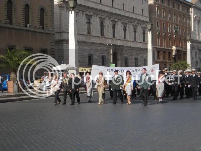 beginning of the parade