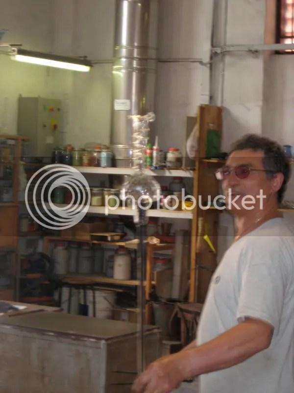 A guy making a vase