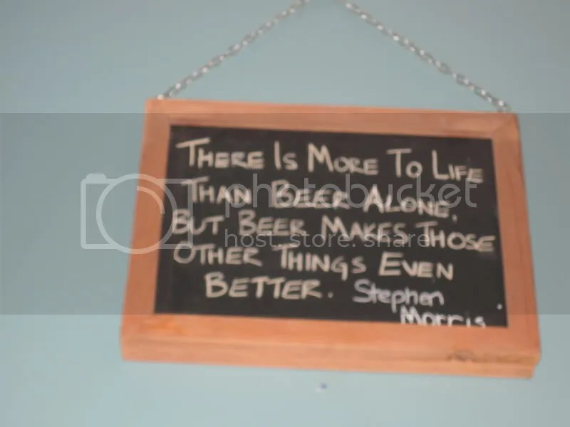 We went to a microbrewery on Granville Island, and they had some cool quotes on the wall. . .