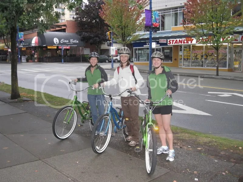 Three girls on their cruisers. . . :)