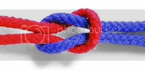 Square knot splice meaning