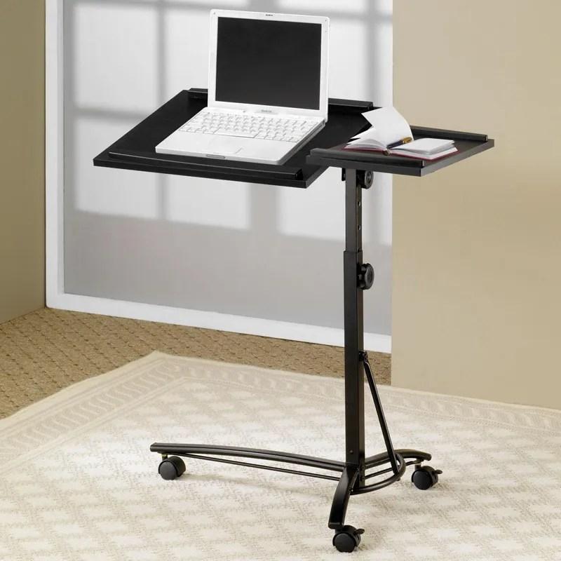 Small Smart Adjustable Height Swivel Top Black Computer