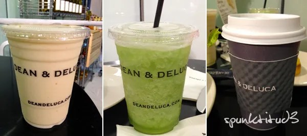 Dean and Deluca Tea and Shakes
