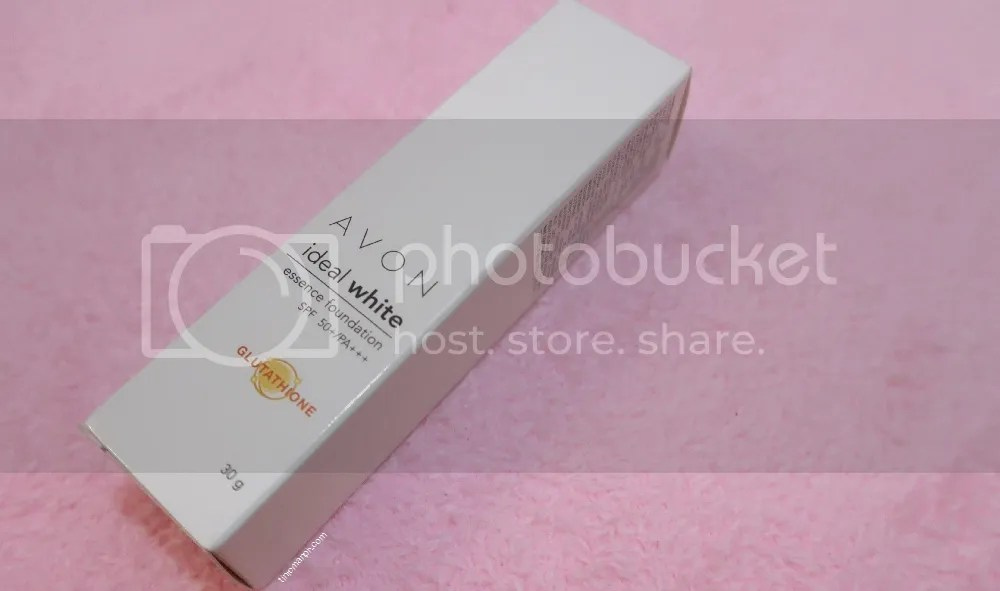 Avon Ideal White Essence Foundation With Glutathione Spf 50 Before and After Review Packaging