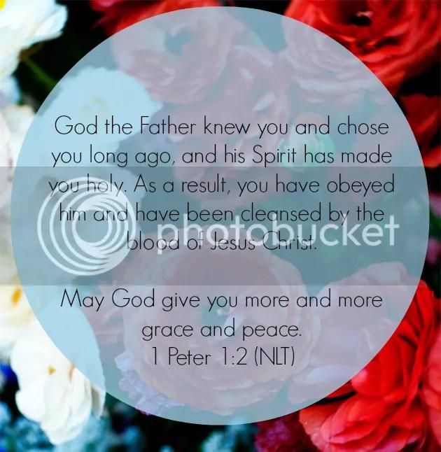 1 Peter 1:2 lent