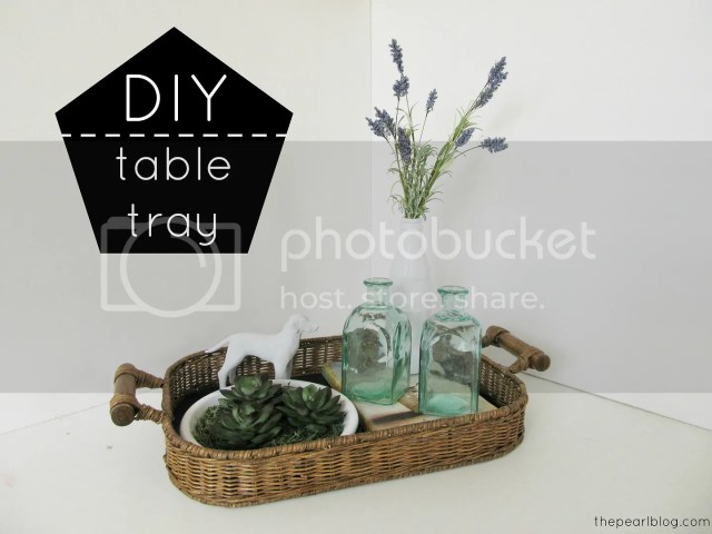 DIY table tray