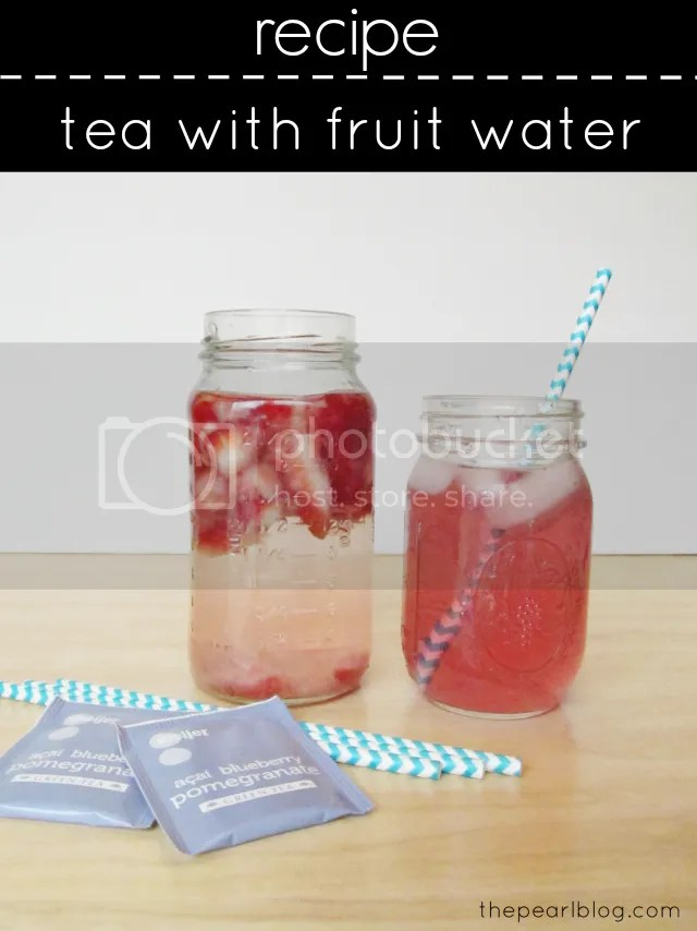 tea with fruit infused water