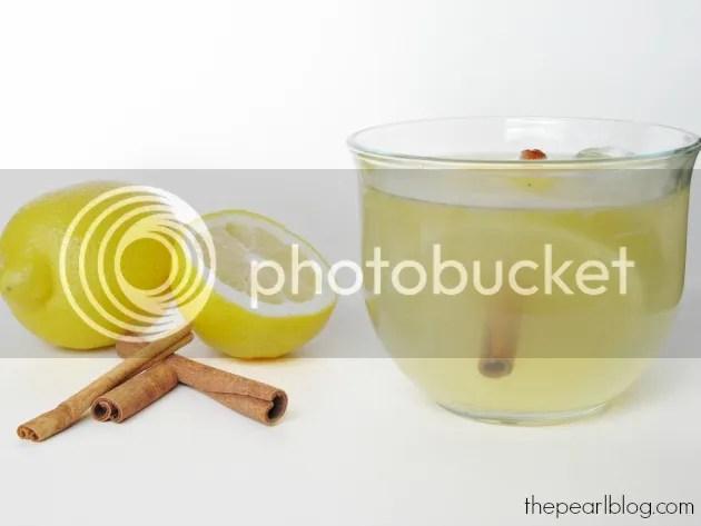 Hot Lemon water with cinnamon