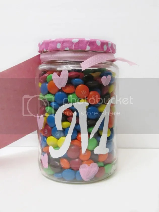 DIY valentine's Candy jar