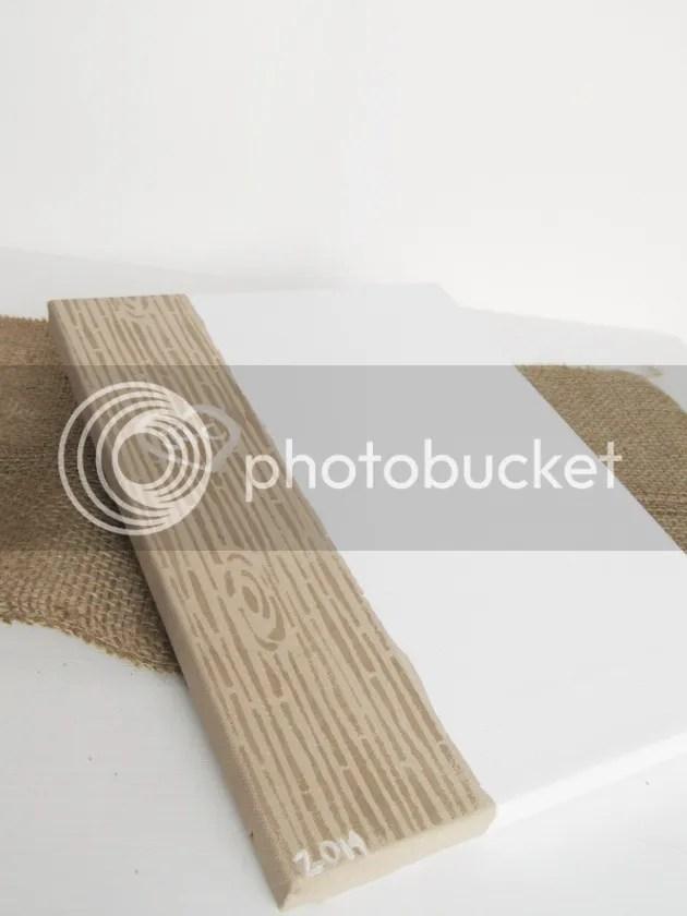 mod podge wood grain stencil tree trunk