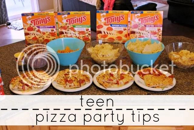teen pizza party tips #tonyspizzeria #PMedia #ad