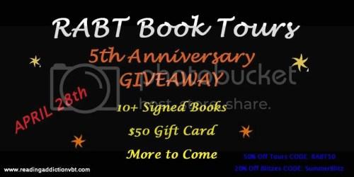 rabt book tours 5th anniversary giveaway banner
