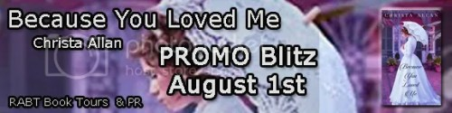because you loved me banner