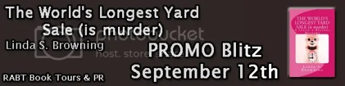 the world's longest yard sale (is murder) banner