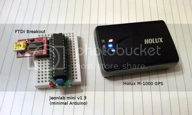GPS (Holux M-1000) signal read using Arduino 1: coordinate/bearing/speed and UTC (1/3)