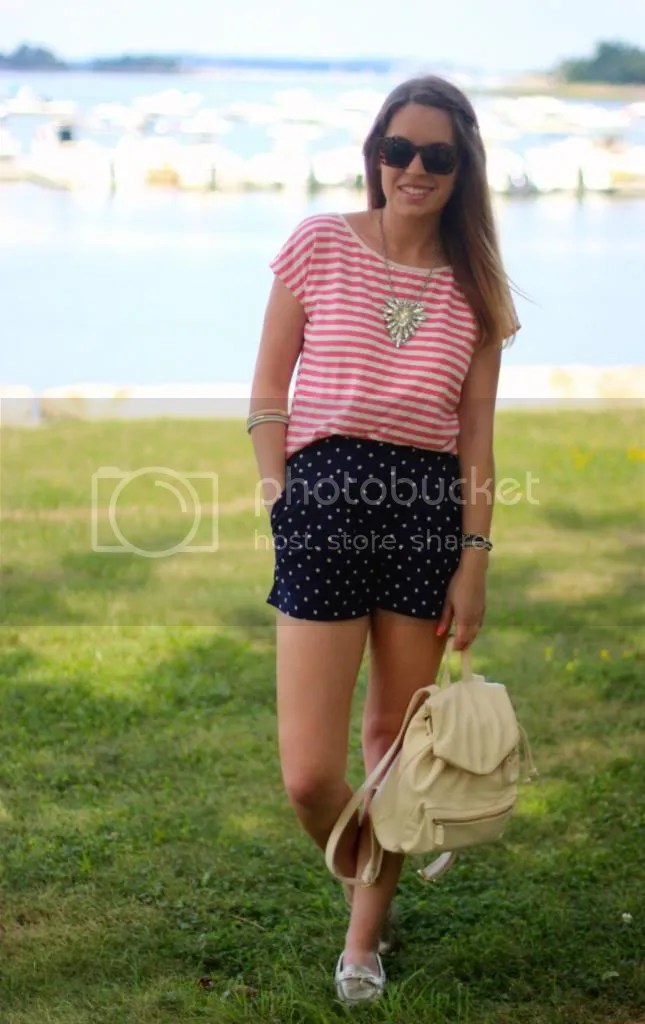 style tab, fashion blogger, boston blogger, how to wear stripes and polka dots, mixing prints, how to wear mixed prints, summer, outfit