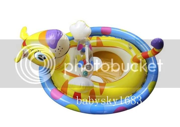 Baby Kid Toddler Boy Girl Swim Pool Bath Boat Ring Raft Float Tube Seat Safe Aid