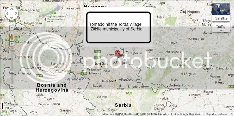Tornado hit the Torda village in the Žitište municipality of Serbia photo GoogleMapoftheTordavillageinthe17D0itiscarontemunicipalityofSerbiahitbyaTornado4-2013_zpsfdcd421f.jpg