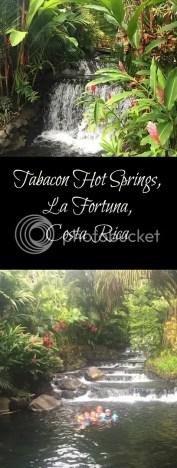 Tabacon hot springs in La Fortuna Costa Rica