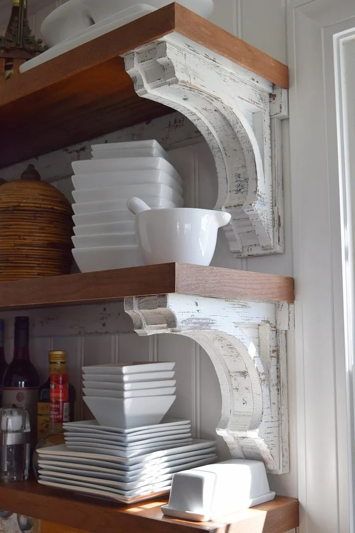 DIY Corbels for Open Shelving/HomeStagingBloomingtonIL