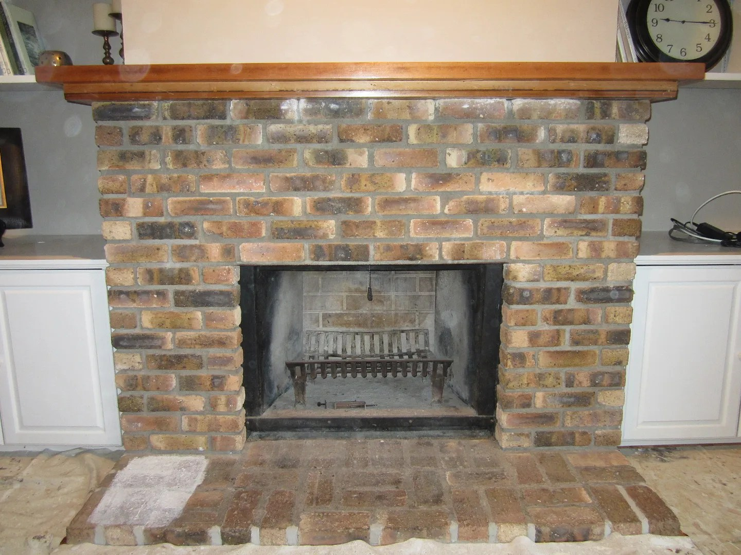 how to whitewash a fireplace home staging in bloomington illinois