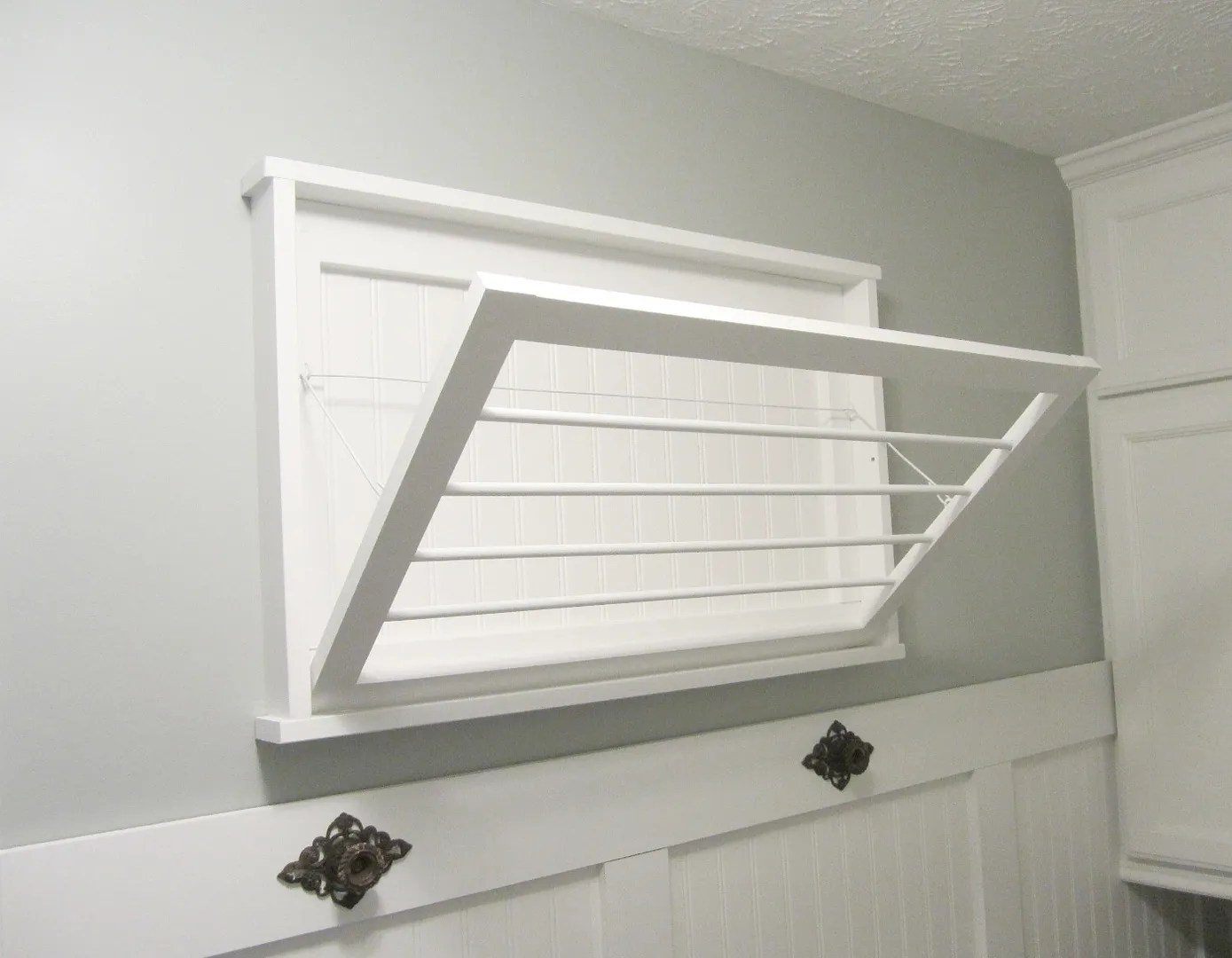 DIY Laundry Room Drying Rack/HomeStagingBloomingtonIL.Wordpress.com