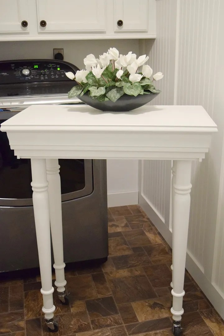 DIY Laundry Room Table/HomeStagingBloomingtonIL