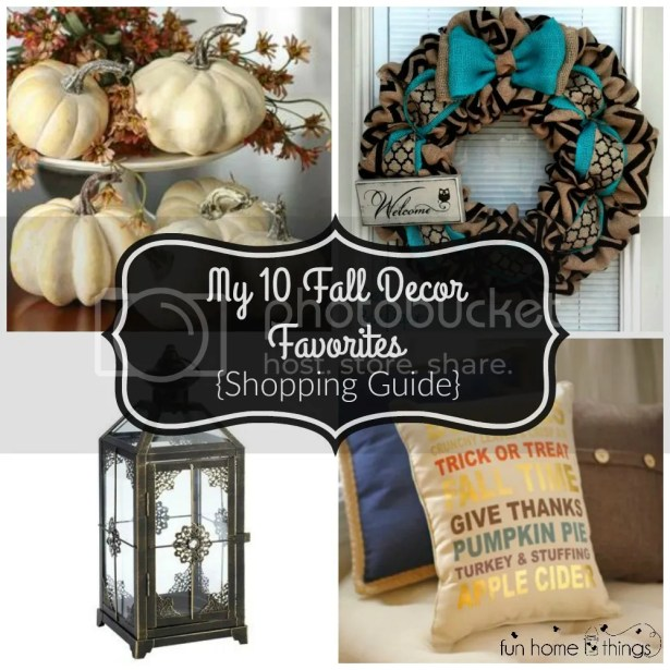 My 10 Fall Decor Favorites {Shopping Guide} --Fun Home Things