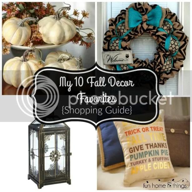 My 10 Fall Decor Favorites {Shopping Guide} --Fun Home Things