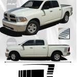 2009 2018 Dodge Ram 1500 Vinyl Graphics Power Side Decals Hood Stripes 3m Wet Ebay
