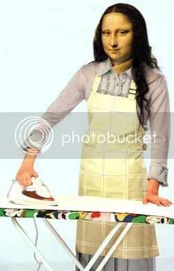 Mona Lisa ironing