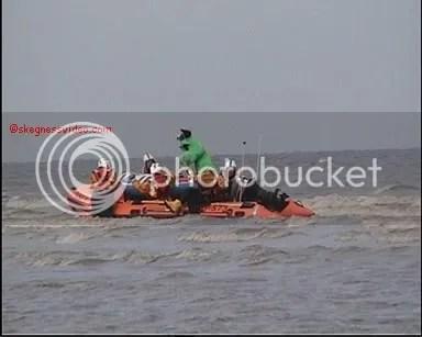 Skegness lifeboat mock rescue