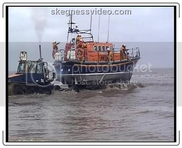 offshore lifeboat launch Skegness
