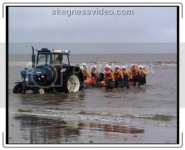 inshore lifeboat launch Skegness
