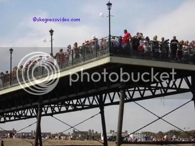 Crowd of people on Skegness Pier